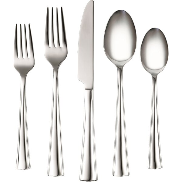 Coordinates Ruth 20 Piece Stainless Steel Flatware Set by Corelle