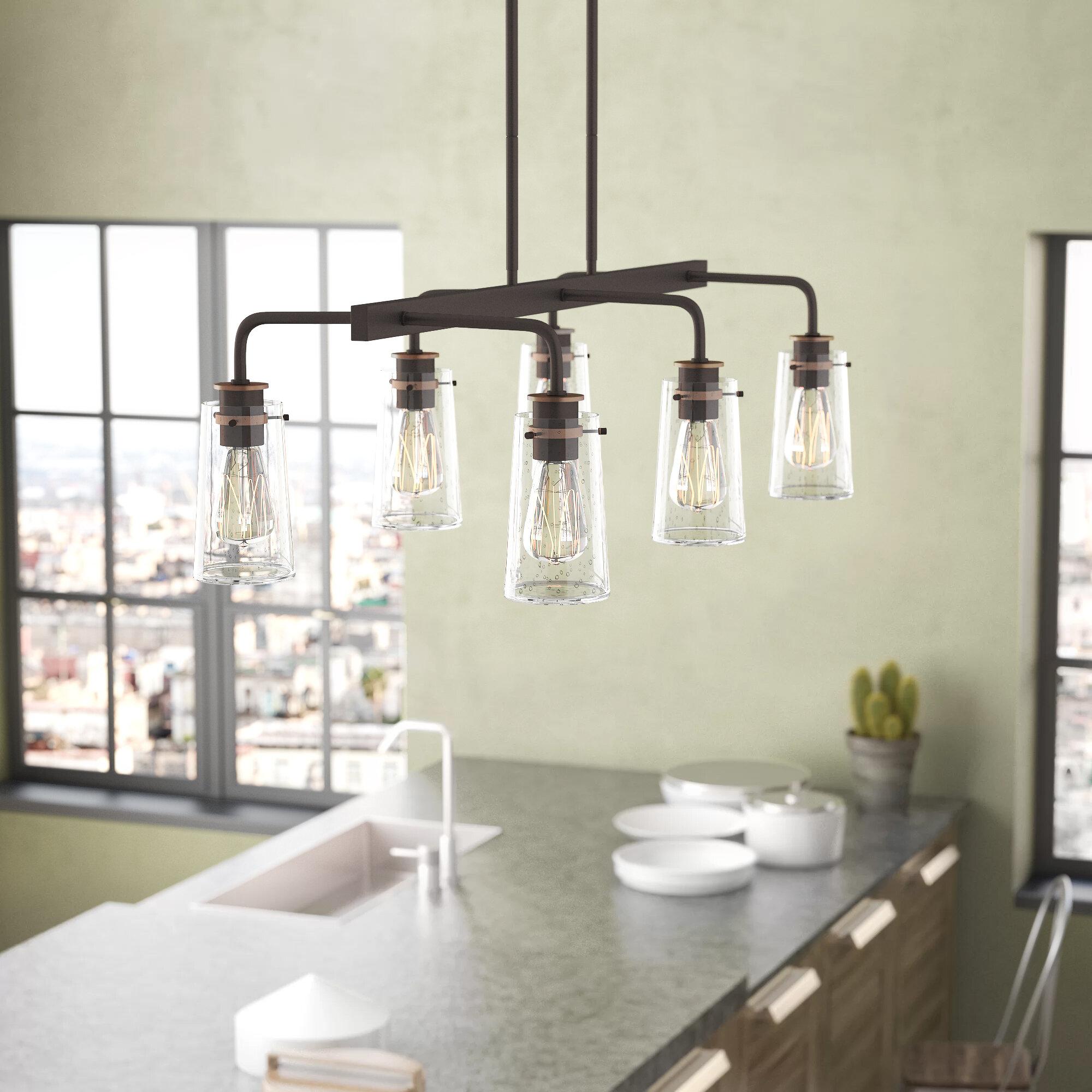 Fruita Linear 6-Light Kitchen Island Pendant