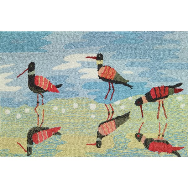 Cockerham Reflective Sandpipers Rug by Highland Dunes