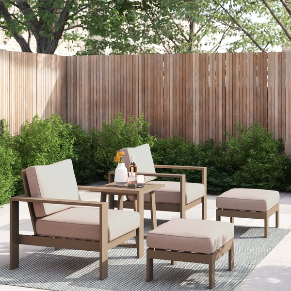 Daly 5 Piece Seating Group with Cushion by Foundstone