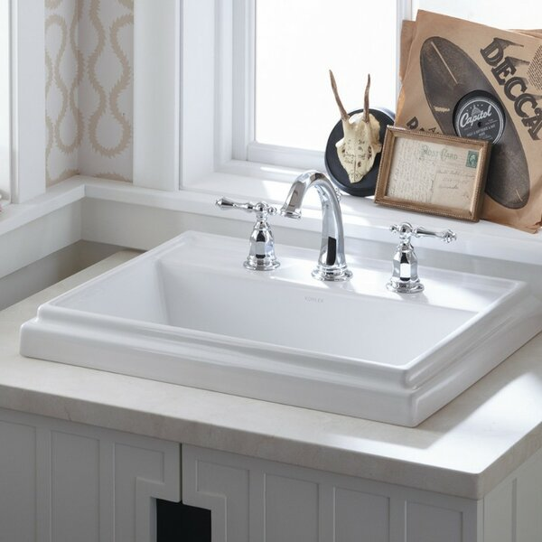 Tresham® Ceramic Rectangular Drop-In Bathroom Sin