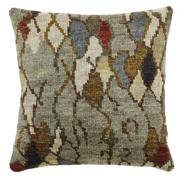 Aquavia Wool Throw Pillow by World Menagerie