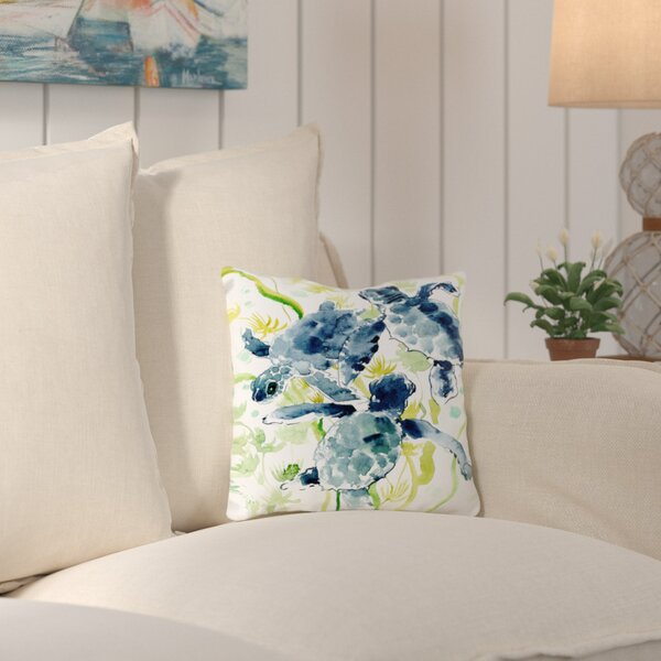 Adamsville Sea Turtles Throw Pillow by Bay Isle Home