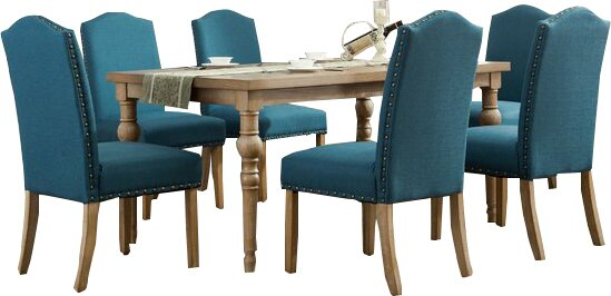 Atticus Solid Wood 7 Piece Dining Set by Mistana