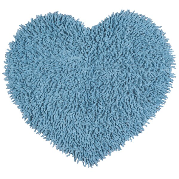 Baugh Shag Chenille Light Blue Area Rug by Ebern Designs