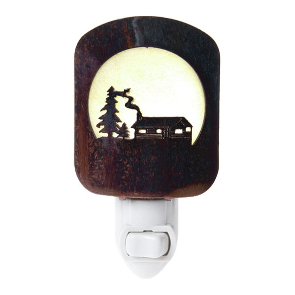 Log Cabin Night Light by Lazart