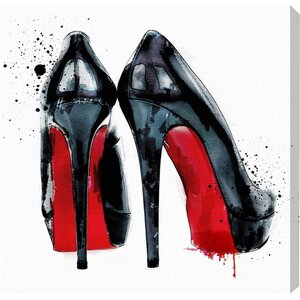 'Red Pumps' Print on Canvas by Oliver Gal