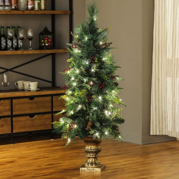 47 Green Pine Trees Artificial Christmas Tree With 100 Clear/White Lights by The Holiday Aisle