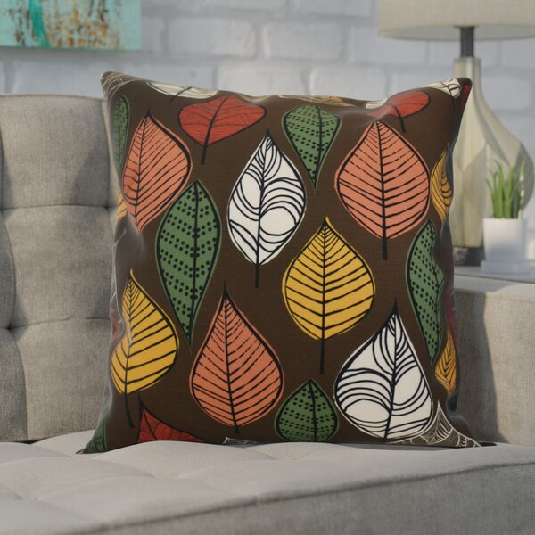 Avalos Leaves Floral Outdoor Throw Pillow by Ivy Bronx