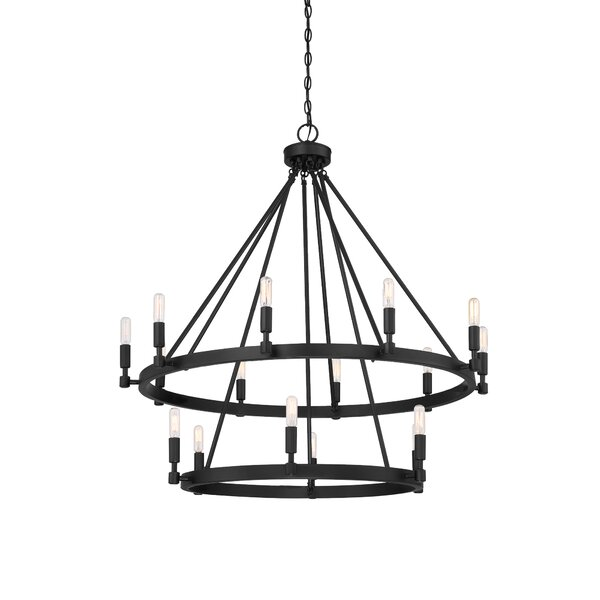 Amalfi 16 - Light Candle Style Wagon Wheel Chandelier by Williston Forge Williston Forge