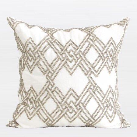 G Home Collection Handmade Textured Check Beaded Pillow Cover Wayfair