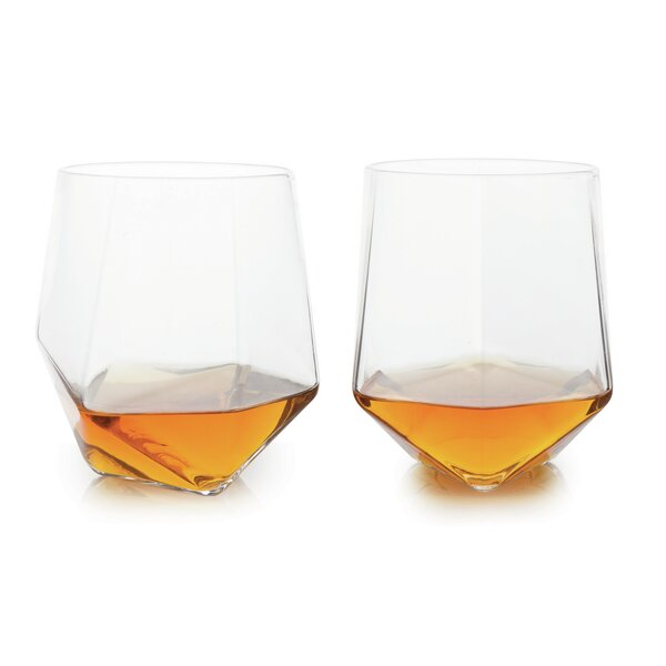 Devon Faceted Crystal Tumbler (Set of 2) by Langley Street