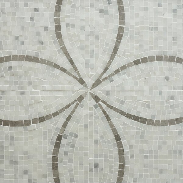 Flora Classic 12 x 12 Natural Stone and Marble Mosaic Tile