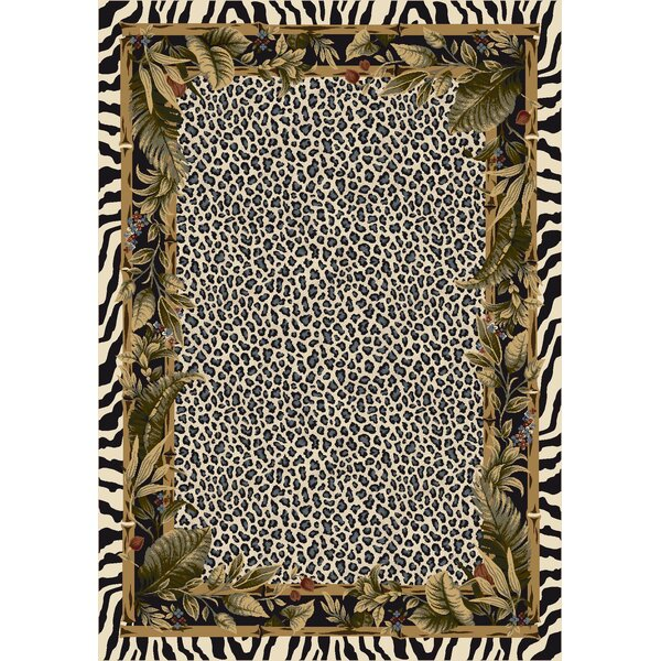 Signature Jungle Safari Snow Leopard Area Rug by Milliken
