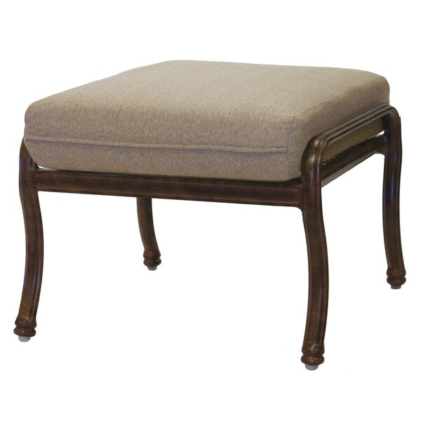 Battista Outdoor Ottoman with Cushion by Fleur De Lis Living
