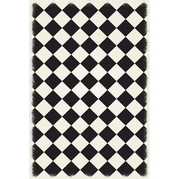 Bostick Diamond European Black/White Indoor/Outdoor Area Rug by Winston Porter
