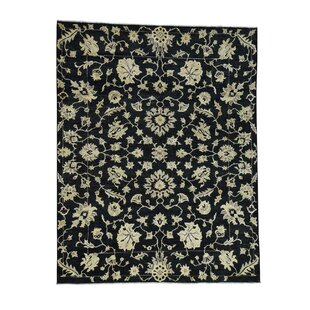 Great Price One-of-a-Kind Pleasant Avenue Peshawar Oriental Hand-Knotted Black Area Rug By World Menagerie