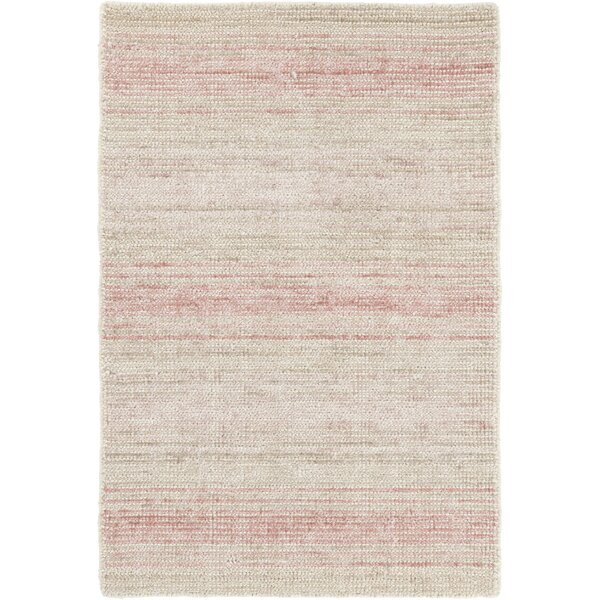 Aurora Hand-Knotted Ivory/Pink Area Rug