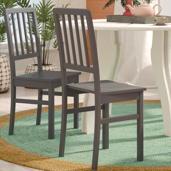 Glenville Solid Wood Dining Chair (Set of 4) by Beachcrest Home