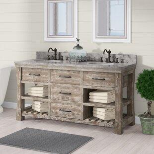 1 Laurel Foundry Modern Farmhouse Clemmie 61 Double Bathroom Vanity Set