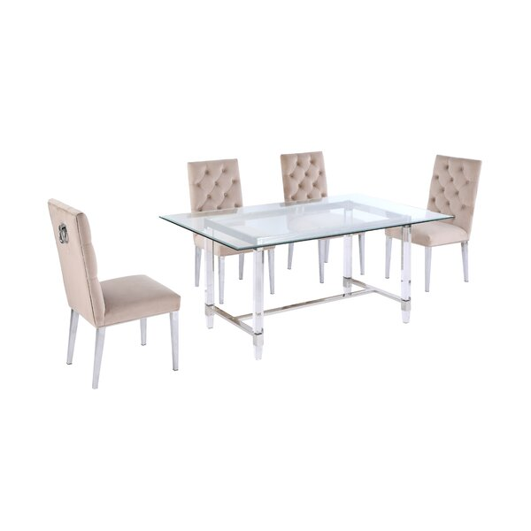 Jeanlouis 5 Piece Dining Set by Everly Quinn Everly Quinn