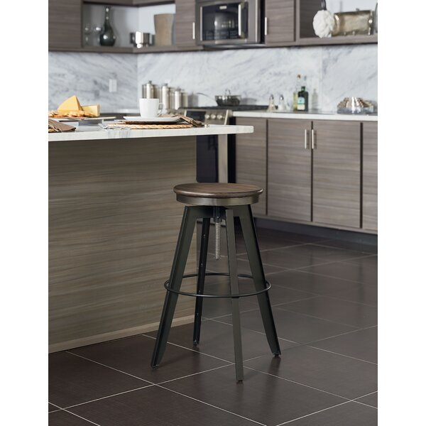 Migliore Adjustable Height Bar Stool by Williston Forge Williston Forge
