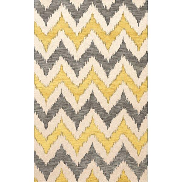 Bella Machine Woven Wool Beige/Gray/Yellow Area Rug by Dalyn Rug Co.