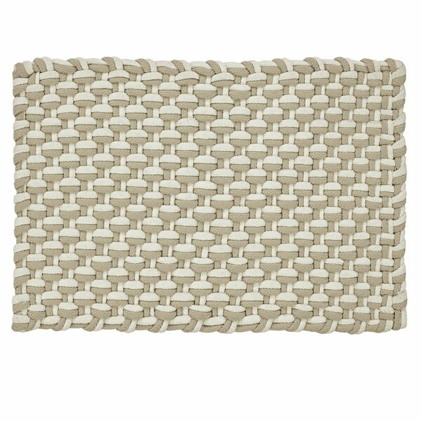 Brandonville Stranded Braid Hand-Woven Beige/Ivory Area Rug by Highland Dunes