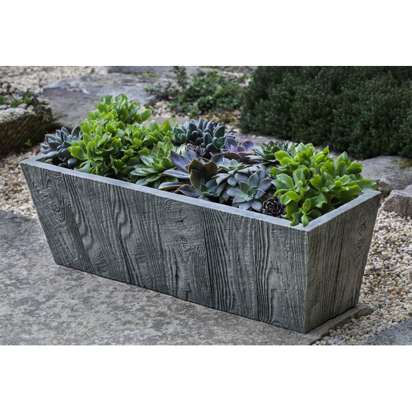 Ravishankar Tapered Cast Stone Planter Box by Union Rustic