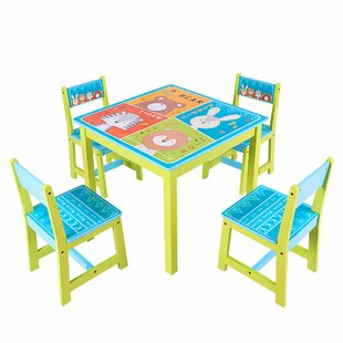 Bargain Chatteris Kids 5 Piece Square Table and Chair Set By Harriet Bee