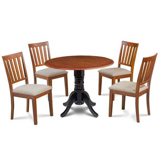 Casimir 5 Piece Drop Leaf Solid Wood Dining Set By Millwood Pines by Millwood Pines Fresh