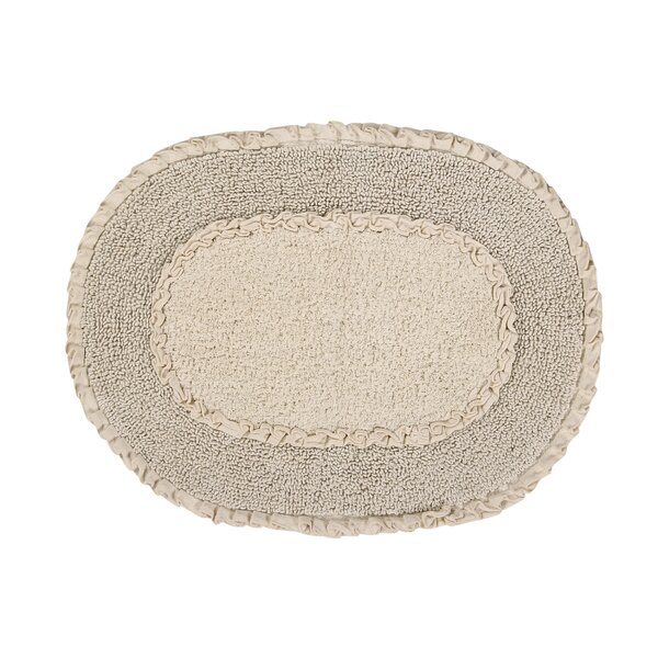 Yinka Double Ruffle Bath Rug by Ophelia & Co.