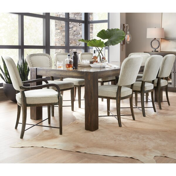 Crafted 9 Piece Extendable Dining Set by Hooker Furniture