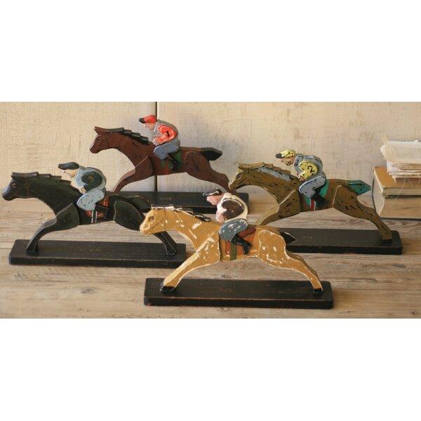 Eastcote Horse and Jockey Figurine (Set of 4) by Loon Peak