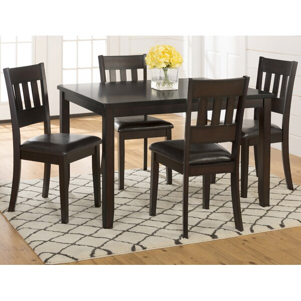 Adan 5 Piece Solid Wood Dining Set (Set of 5) by Millwood Pines