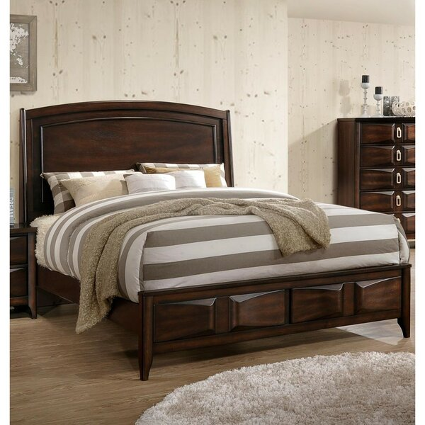 Roder Lined Wooden King Standard Bed by Bloomsbury Market