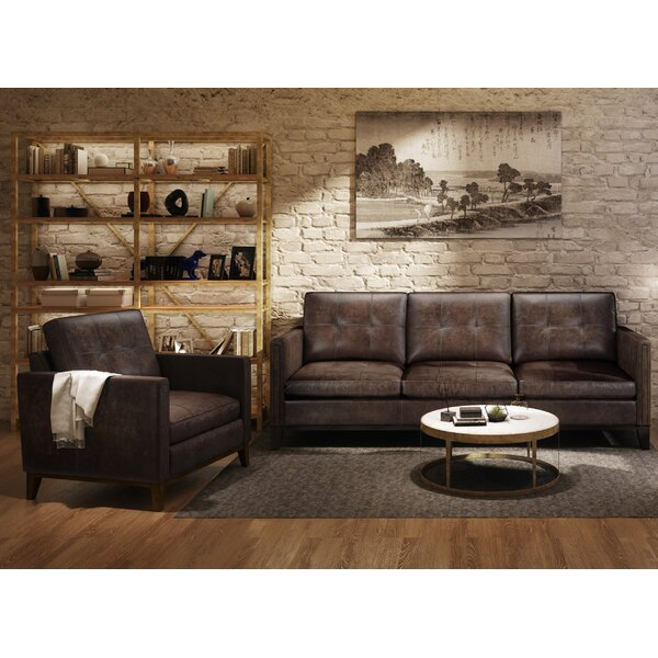 Review Quinto 2 Piece Leather Living Room Set
