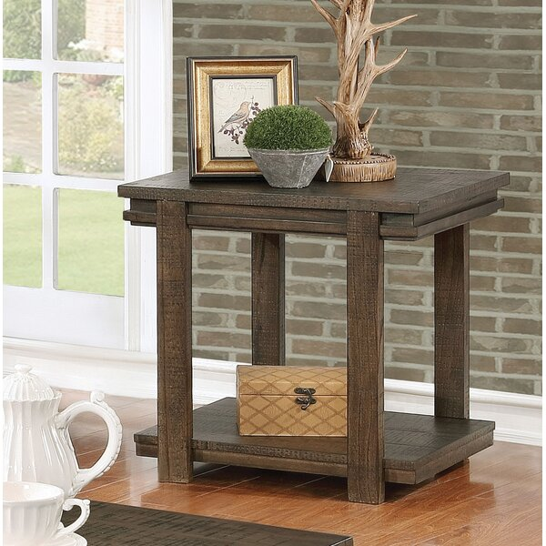 Stackhouse Rustic End Table by Millwood Pines