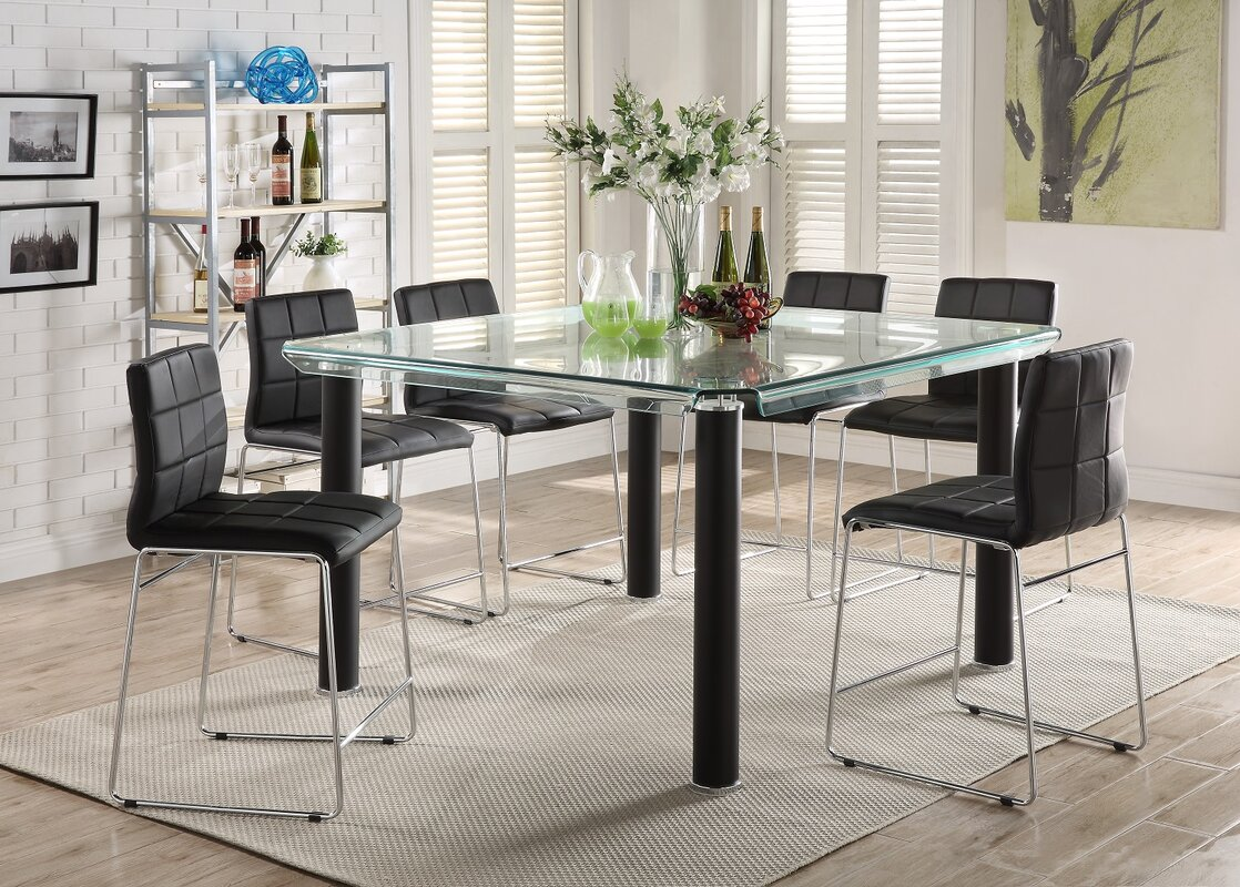 Wayfair Len orren ellis len 7 dining set reviews wayfair