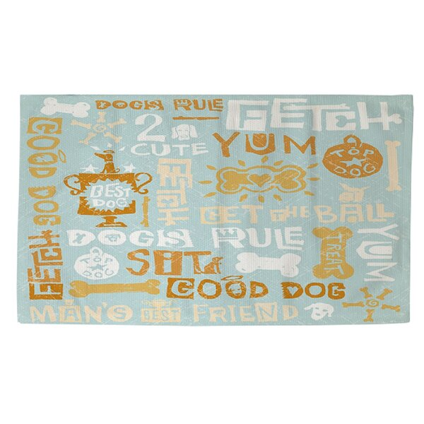 Dog Bark Blue Area Rug by Manual Woodworkers & Weavers