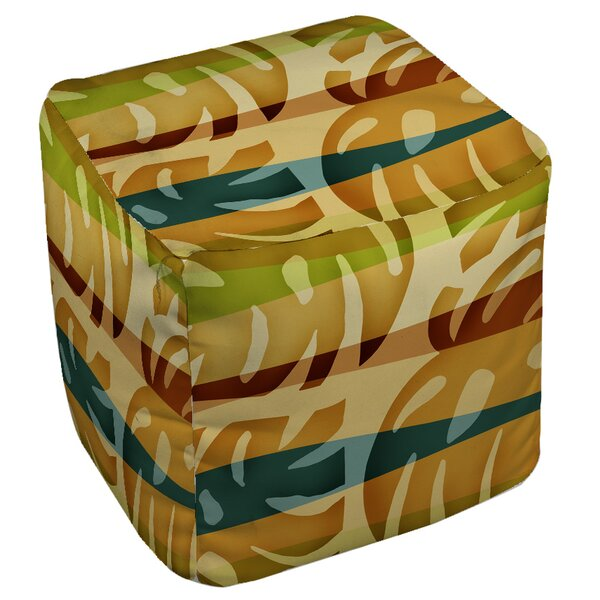 Tropical Leaf Pouf by Manual Woodworkers & Weavers