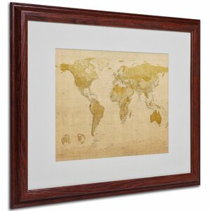 World Map Antique by Michael Thompsett Graphic Art on Canvas by Trademark Fine Art