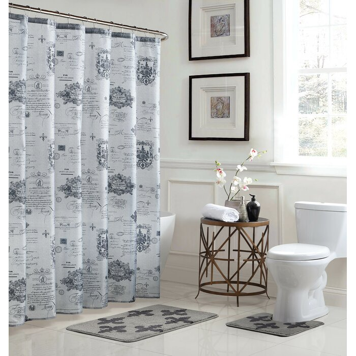 Bath Fusion Fleur De Lis Shower Curtain Set Wayfairca