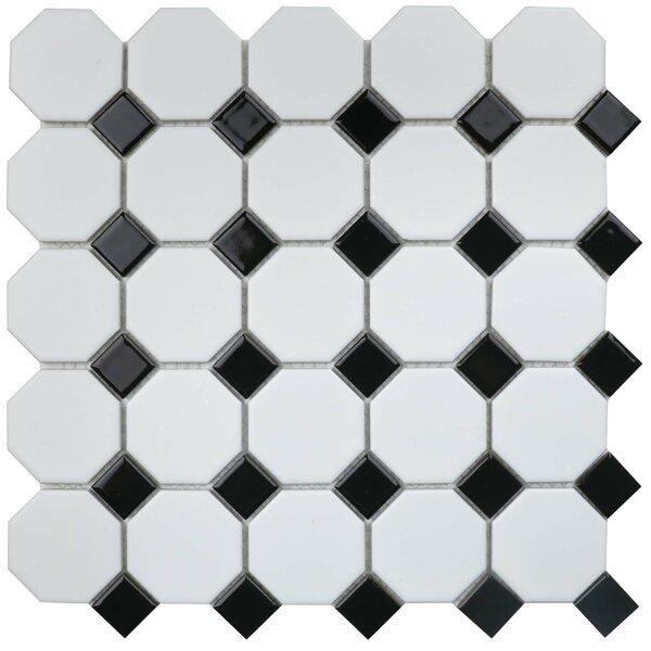 Value Series Random Sized Porcelain Mosaic Tile in Matte White/Black by WS Tiles