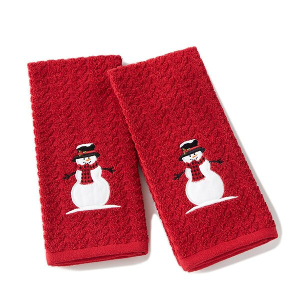 Britton Winter Cotton Hand Towel (Set of 2) by The Holiday Aisle