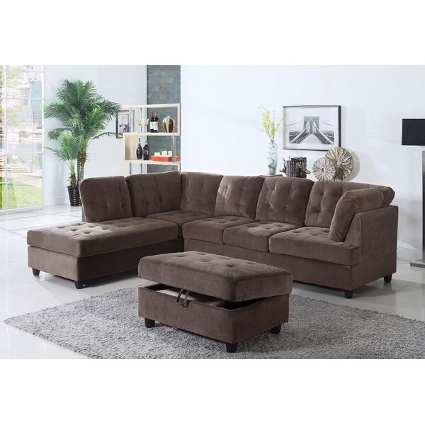Top 2018 Brand Feagin Sectional with Ottoman Get The Deal! 60% Off