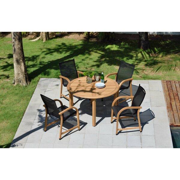 Lumsden Outdoor 5 Piece Teak Dining Set