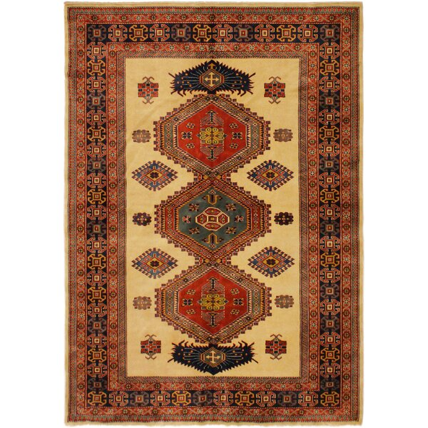One-of-a-Kind Armillac Hand-Knotted Wool Blue Area Rug by Bloomsbury Market