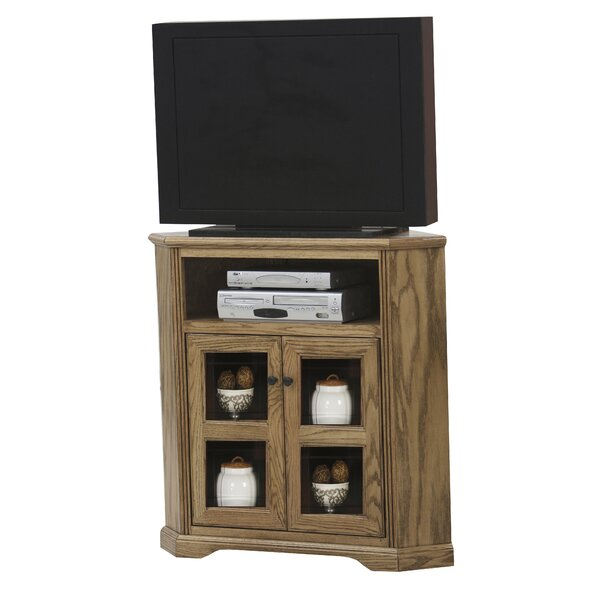 Compare Price Glastonbury Solid Wood Corner TV Stand For TVs Up To 43 Inches