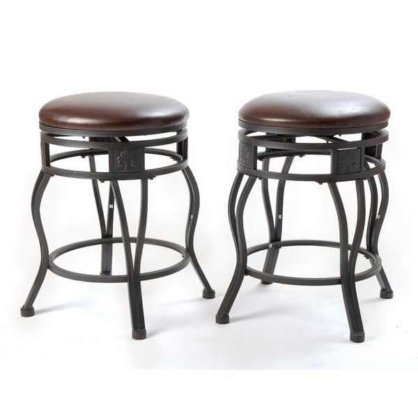 Nakashima 24'' Swivel Bar Stool (Set of 2) by Williston Forge